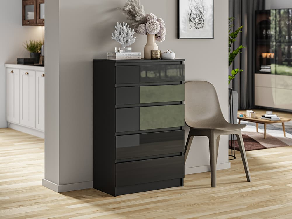 concrete like grey commode chest of drawers