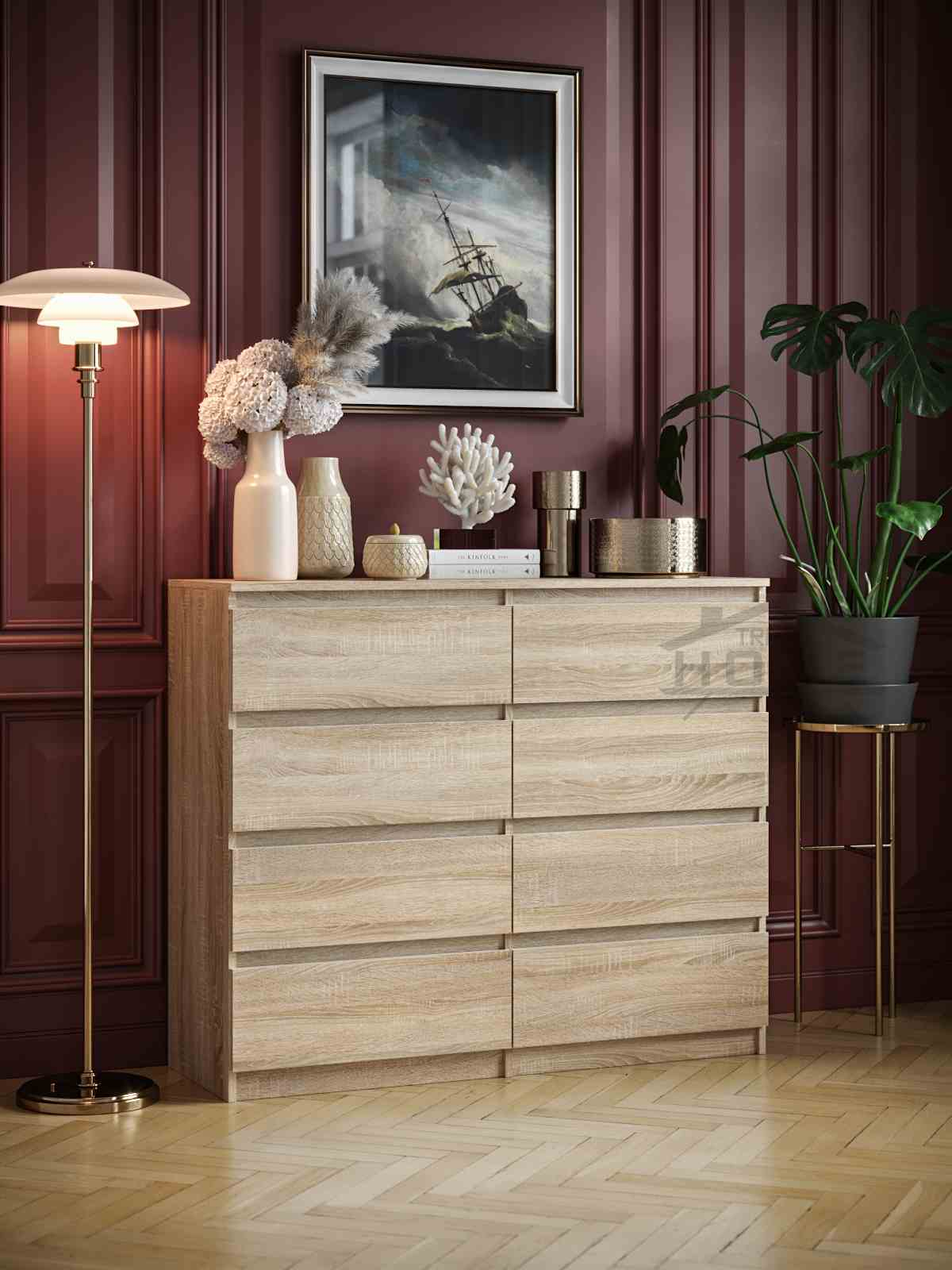 pair 8 chest of drawers sonoma