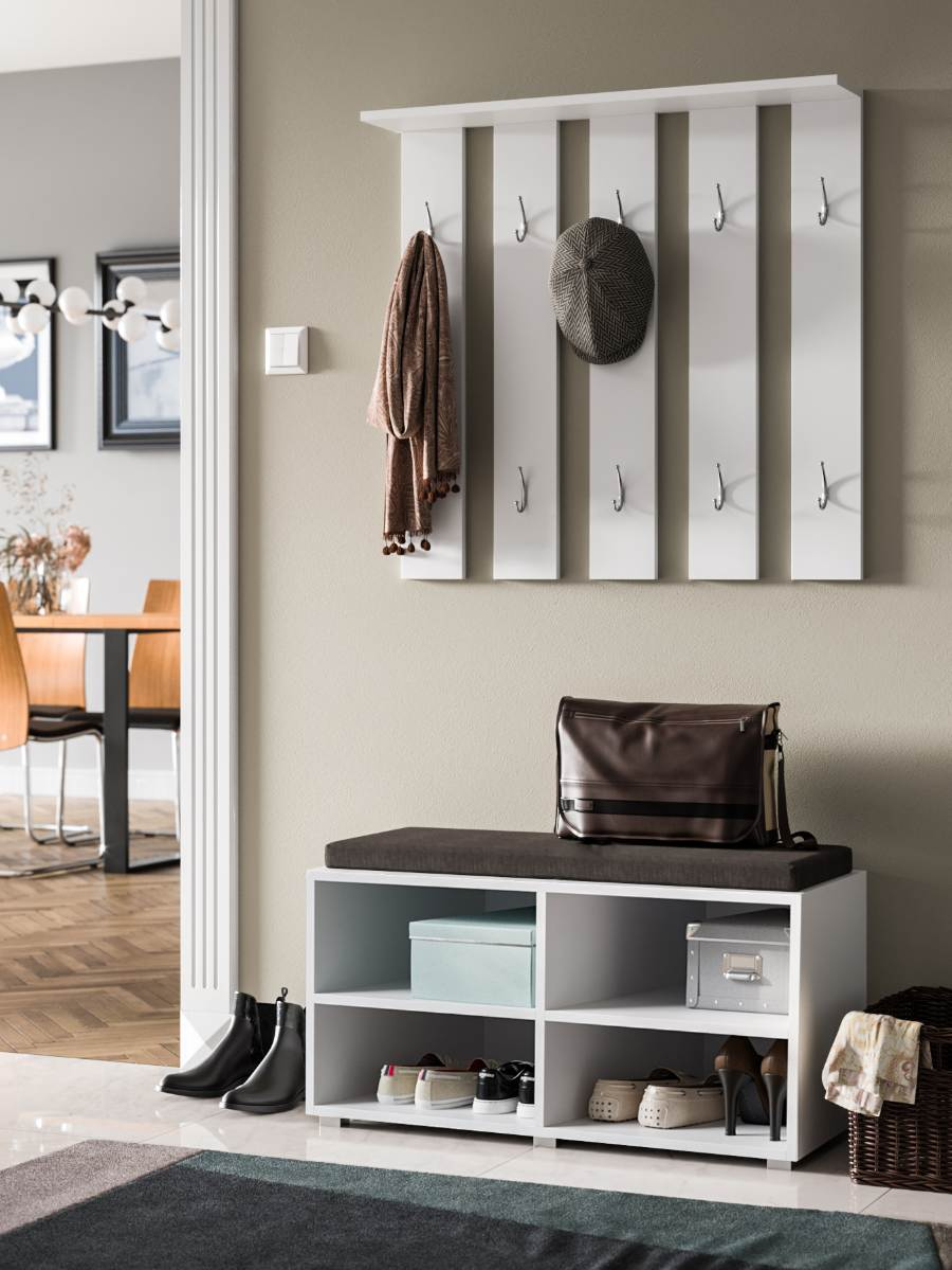 Stone 2 Hallway Furniture White matte