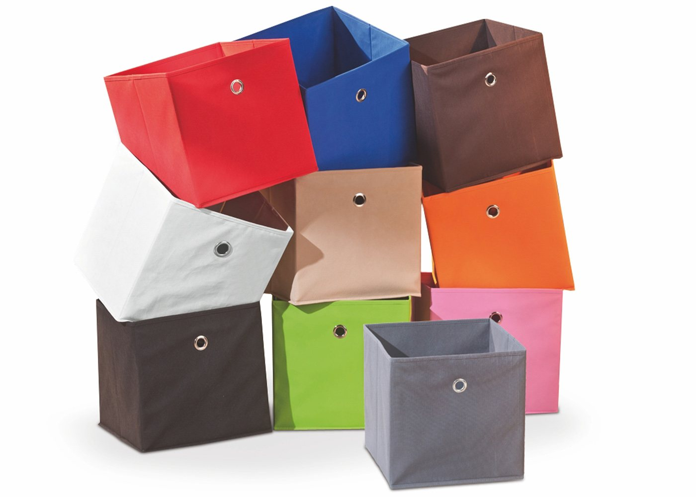 fabric boxes for shelving units various  colors