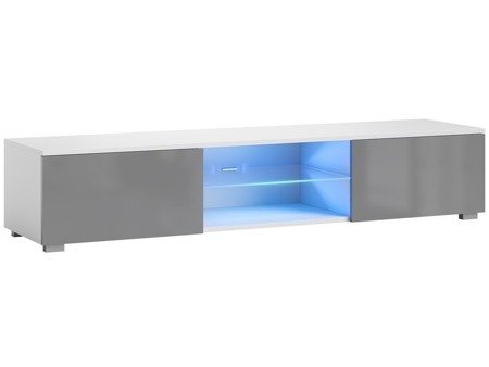 TV Cabinet Bridgette White Matt Gray Gloss 140 cm