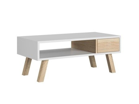 VER coffee table with a drawer  sonoma & white