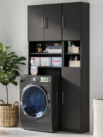 Standing Tall Bathroom Cabinet Melody Black FREE DELIVERY