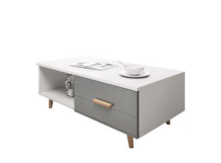 Bench Giustina White Gray FREE DELIVERY