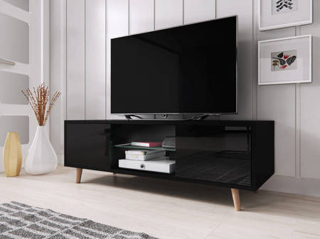 TV Unit Giustina Black Gloss FREE DELIVERY