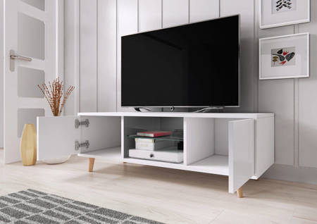 TV Unit Giustina White Gloss FREE DELIVERY