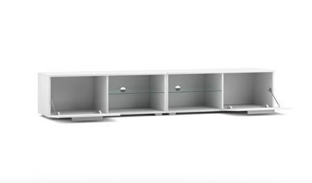 TV Unit Elvira II White Black Gloss FREE DELIVERY