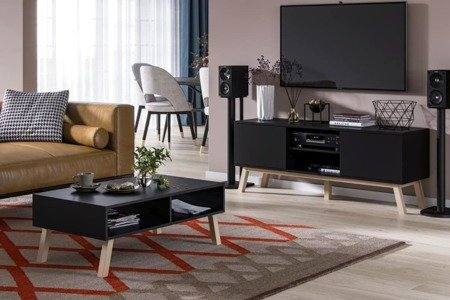 Bonnie&Clyde coffe table with TV stand set Black Matte