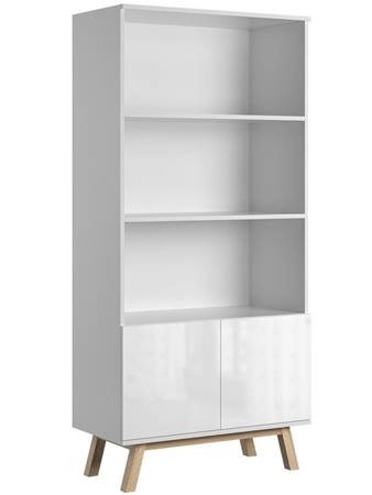 Bookcase Vero White Gloss FREE DELIVERY