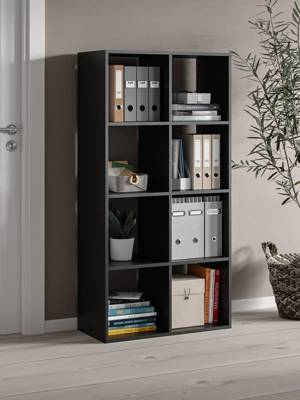 Bookshelf Homer 8 Open slots Black