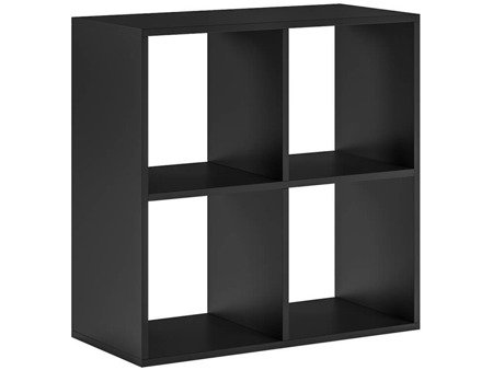 Bookshelf Platon 4 Open Slots Black