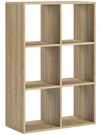 Bookshelf Socrates 6 Open slots White Oak