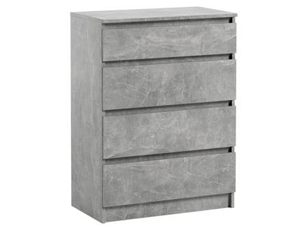 Chest of drawers Pari 4 Grey Marble effect