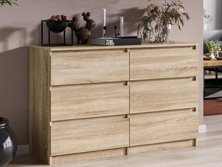 Chest of drawers Pari 6 White oak