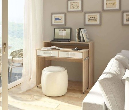Desk Bloom Sonoma White Gloss FREE DELIVERY