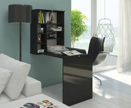 Fold Down Desk Table Wall Cabinet Seek Black FREE DELIVERY