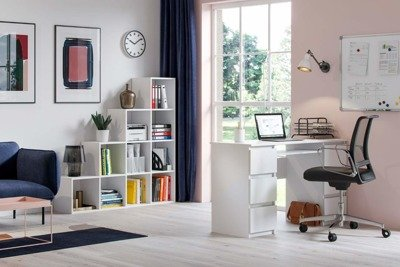 Jaris Desk White Gloss FREE DELIVERY
