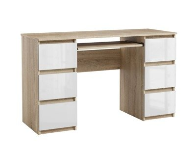 Jaris Desk White Oak White Gloss