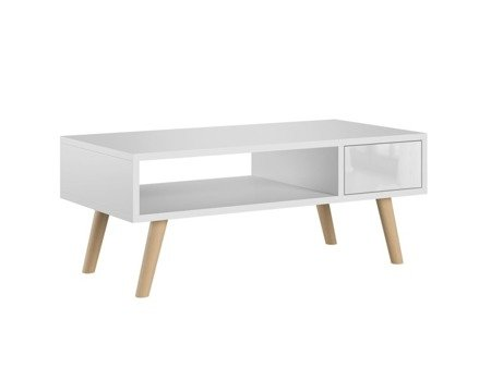 Juliet Coffee Table With a Drawer White Gloss