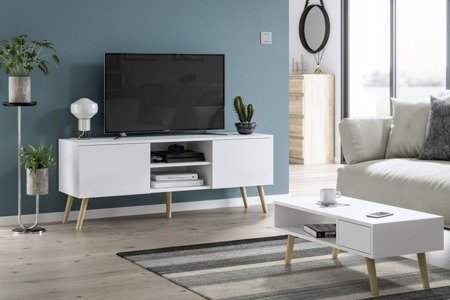 Juliet White Coffee Table With a Drawer White Matt