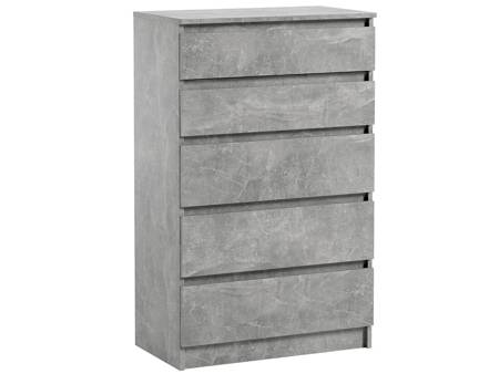 Pari 5 Chest of drawers Grey With a Marble Effect