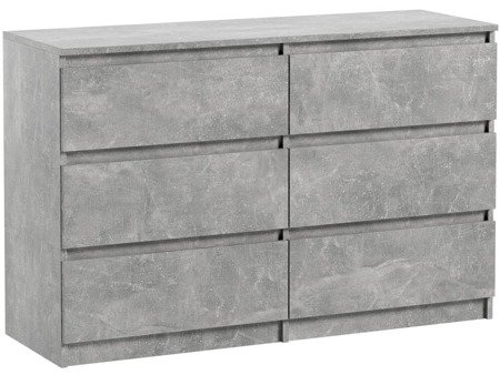 Pari 6 Chest of drawers Grey with a Marble like effect