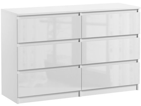 Pari 6  Chest of drawers  White Gloss