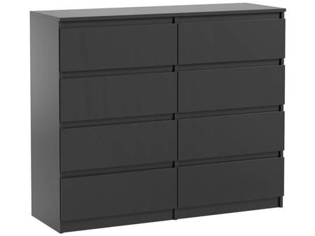 Pari 8 Chest of Drawers Black Matt