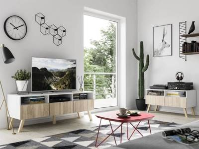 TV Unit Astra Sonoma/White II 150cm FREE DELIVERY