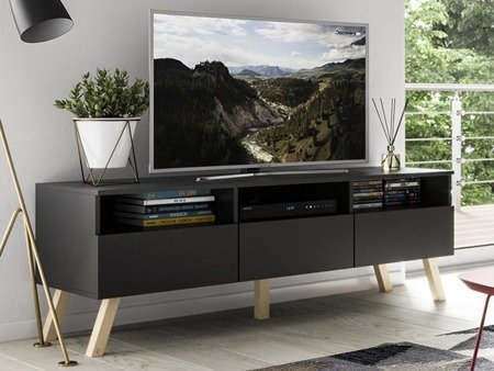 TV Unit Astra II Black Matte 150cm FREE DELIVERY