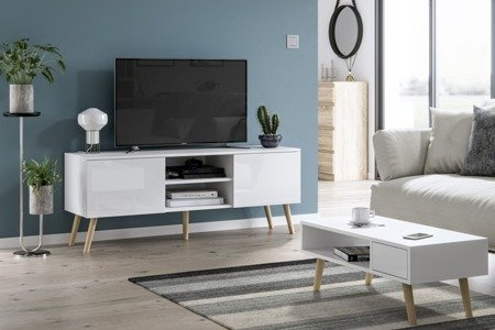 Romeo&Juliet TV Unit and Coffee Table Set  White Gloss