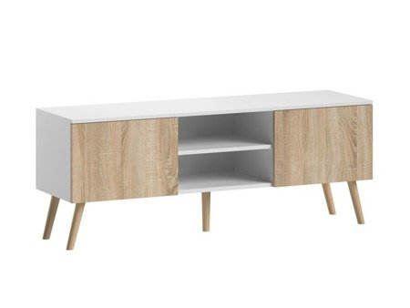 Romeo&Juliet TV Unit and Coffee Table Set White Matt with White Oak