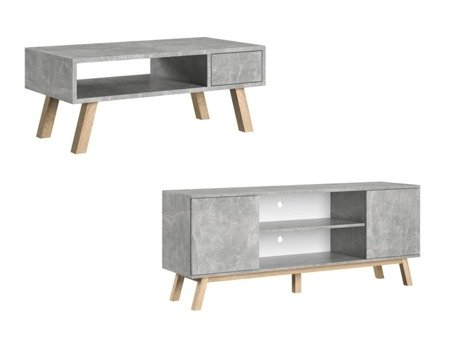 SET: Bench VER + TV Unit  VERO Marble Effect FREE DELIVERY