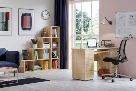 Set: Jaris Desk Sonoma + Pitagoras Bookcase FREE DELIVERY