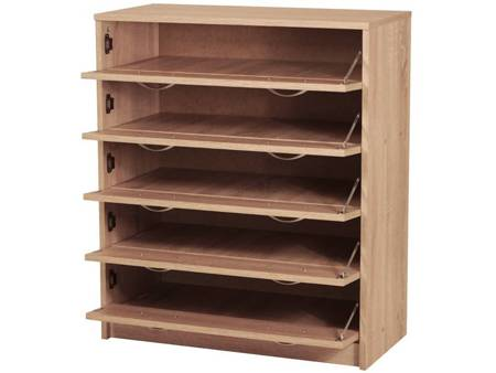 Shoe Cabinet Giro White Oak