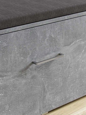 Stone 2-piece Hallway set  Gray with a Marble Effect with metal hangers and a handle