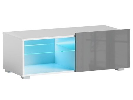TV Cabinet Focus I White Grey Gloss 100cm
