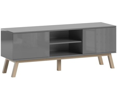 TV Unit Clyde Gray Gloss FREE DELIVERY