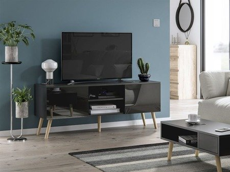TV Unit Romeo Black Gloss FREE DELIVERY