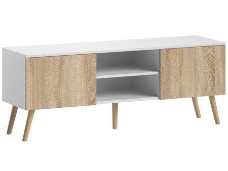 TV Unit Romeo White/White Oak