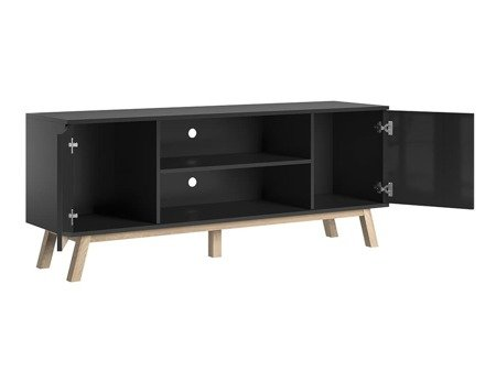 TV Unit Vero Black Gloss FREE DELIVERY