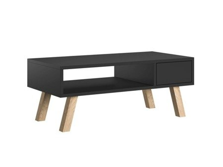 VER Coffee Table with a drawer  Black Matt
