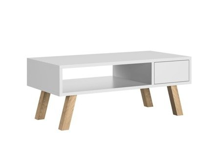 Ver Coffee Table With a Drawer White Matt