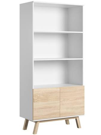 Vero Bookcase  White Matt with White Oak