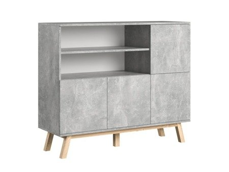 Vero Sideboard  Grey with a  Marble Effect