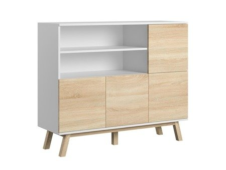 Vero Sideboard White Oak with White Matt